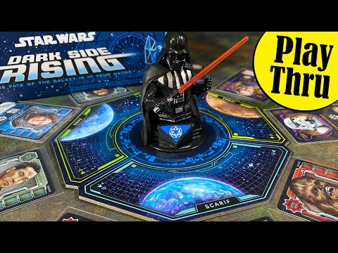 How to Play STAR WARS DARK SIDE RISING the Board Game with a Play Through