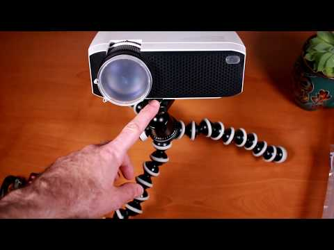 Full review and demo of LC350 LCD LED projector from Apeman