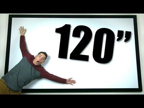 "Silver Ticket 120"" Projector Screen!"