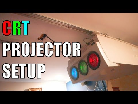 CRT Projector Convergence Timelapse