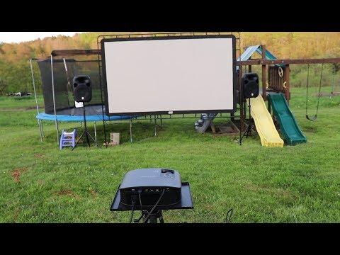 Our Outdoor Movie Setup