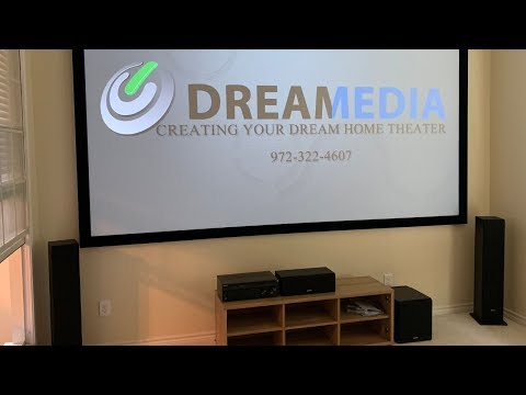 "MASSIVE 145"" Dragonfly High Contrast PROJECTOR SCREEN installed in less than 42 MINUTES!"