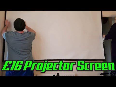 £16 Projector Screen No Mess Install