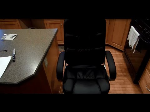 Executive PU Leather Desk Computer Chair 010 Unboxing & Setup