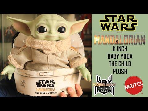Star Wars The Mandalorian Mattel 11 Baby Yoda THE CHILD Plush Review