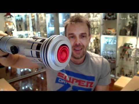 Star Wars Hasbro Darth Maul Double Bladed Lightsaber HD Review | www.flyguy.net