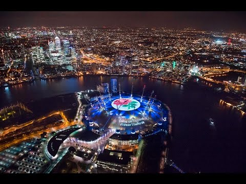 Wear the Rose - O2 Projects Support for England Rugby on to Roof of The O2