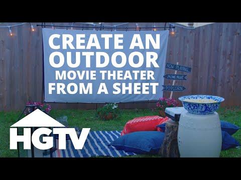 Easy Does It: DIY Outdoor Movie Screen   HGTV