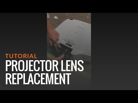 How to change lens in your projector