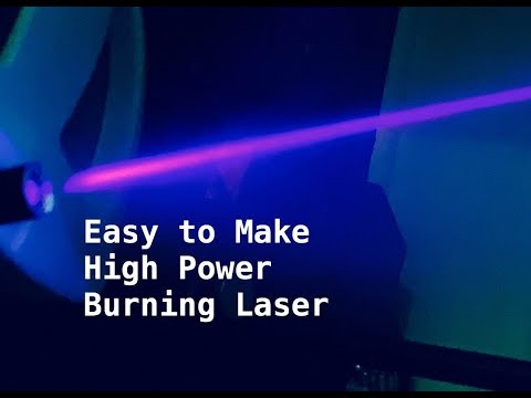 Burning Laser from 5mW Laser Pointer