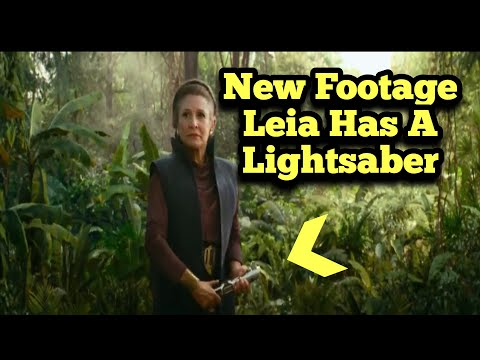 New Footage of Leia Holding a Lightsaber | Star Wars: the Rise of Skywalker TV Spot Breakdown