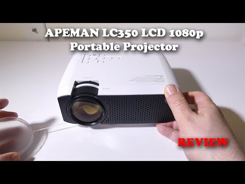 APEMAN LC350 1080P LCD Projector REVIEW