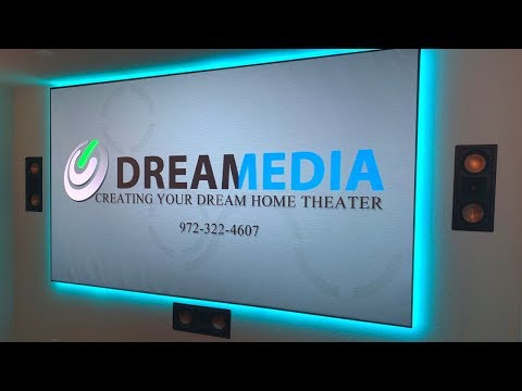 Dragonfly Thinline ALR 120 Projector Screen ASSEMBLY, INSTALL and DEMO