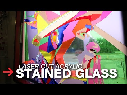 Laser Cutting Acrylic | Acrylic Stained Glass Window | Laser Cutter
