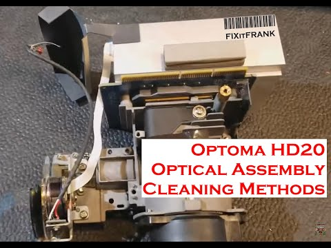 Optoma HD20 DLP Projector Optics Cleaning