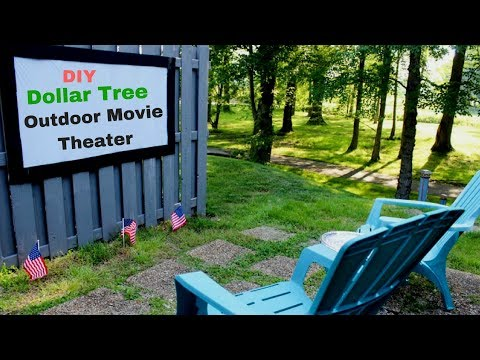 Dollar Tree DIY Outdoor Movie Theater | Projection Screen
