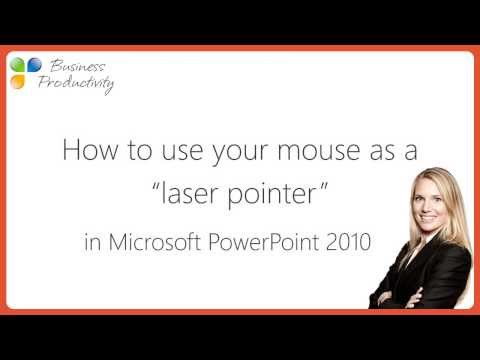 How to turn your mouse into a laser pointer in Microsoft PowerPoint 2010