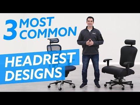3 Most Common Office Chair Headrest Designs and Adjustments