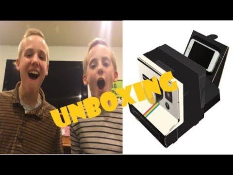 Polaroid Cardboard Projector Unboxing