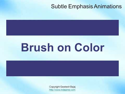 Emphasis Animations in PowerPoint 2010