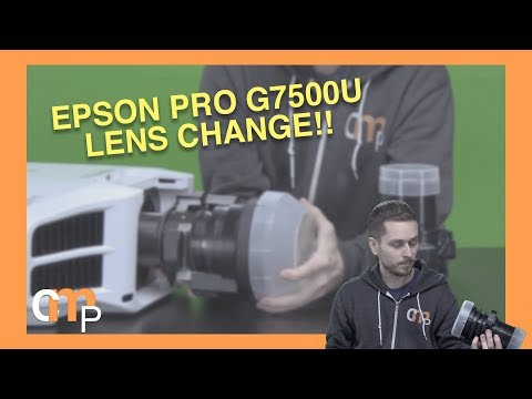 New Lens! Epson Pro G7500U Lens Change - Short Throw