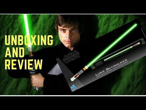 Star Wars Black Series Luke Skywalker ROTJ Force FX Lightsaber- Unboxing and Review
