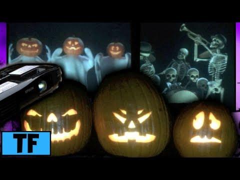 Halloween AtmosFX Yard Haunt Talking Pumpkins & Boo Crew Eerie Eyes Bone Chillers Window Projection