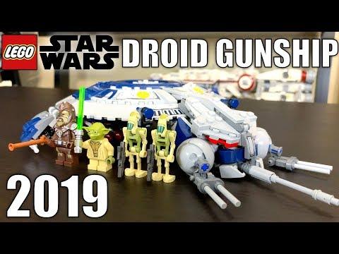 LEGO Star Wars 2019 Droid Gunship Review! Set 75233!