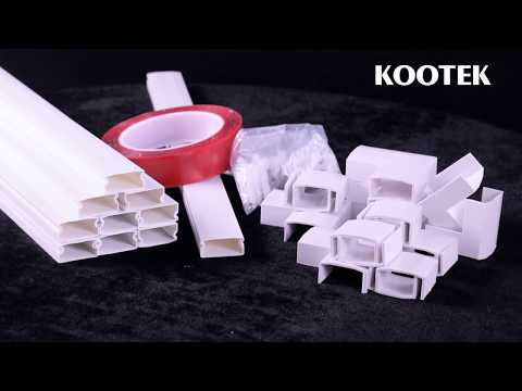 Kootek 157 Inch On-Wall Cord Cover Raceway Kit – How to use