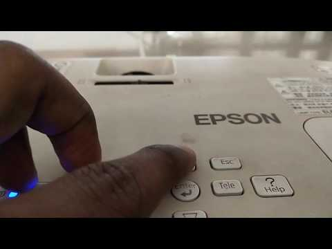 Setup a EPSON projector on white screen, How to align and setup projector. Projector setup & setting