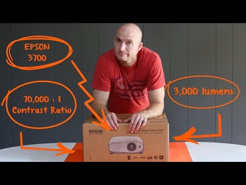 (Unboxing) Epson 3700 – Projector as living room TV on a wall / no screen