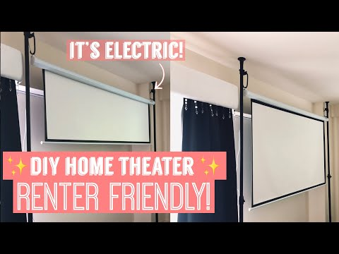 DIY Home Theater for Your Apartment!   RENTER FRIENDLY  AFFORDABLE