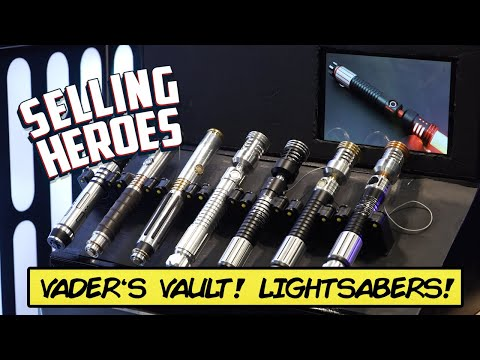 Custom Combat Ready Lightsabers! Vader's Vault at NY Comic Con!