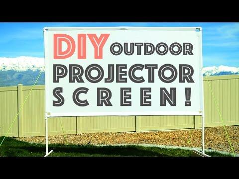 DIY Outdoor Projector Screen - Plus Micro Projector Review