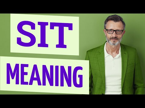 Sit | Meaning of sit