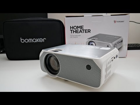 "BOMAKER GC555 720p LED Video Projector Under £90 - PS4/XBOX One on Massive 250"" Screen"