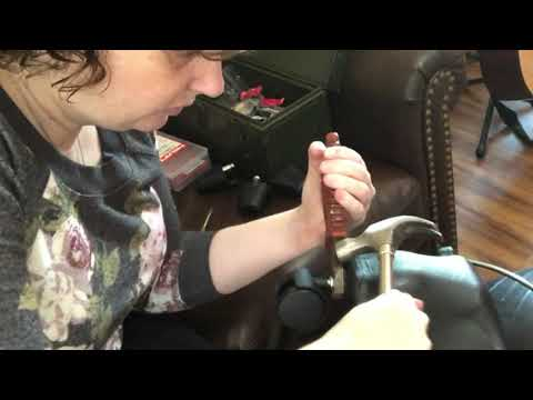 How to remove caster wheels from rolling chair