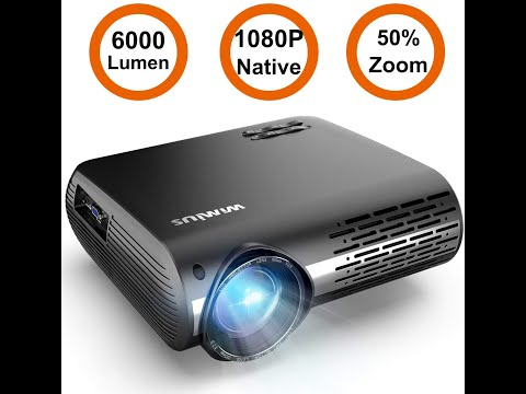 Projector, WiMiUS P20 5800 Lumens Video Projector Native 1080P LED
