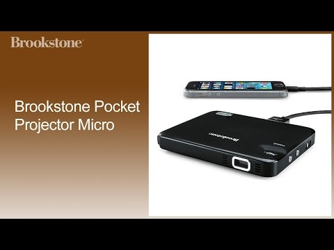 Brookstone Pocket Projector Micro How To Video