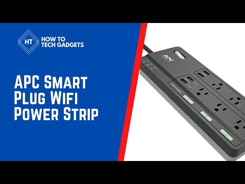 APC Smart Plug Wifi Power Strip 2021 - Alexa Echo and Protector Power | how to tech gadgets