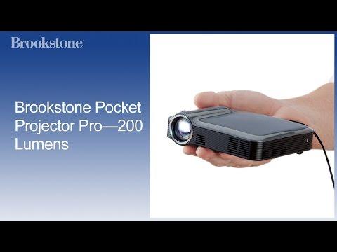 Brookstone Pocket Projector Pro—200 Lumens