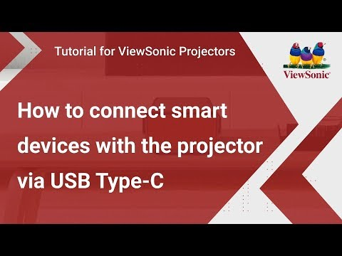 How to connect smart devices with the projector via USB Type-C