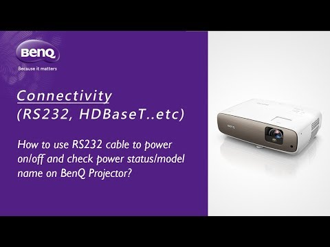 [BenQ FAQ] Projector - How to use RS232 cable connection to power on & off projector