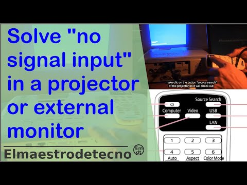 """Solve """"no signal input"""" in projector or external monitor"""