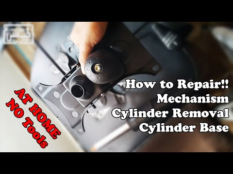 How to Repair Sinking Office Chair Leaning to One Side with no tools?Cylinder removal Mechanism
