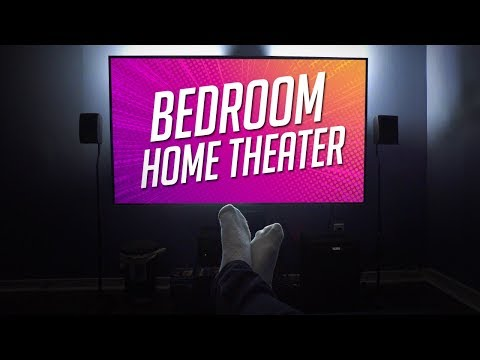 Tiny 9'x9' Bedroom Home Theater Tour!