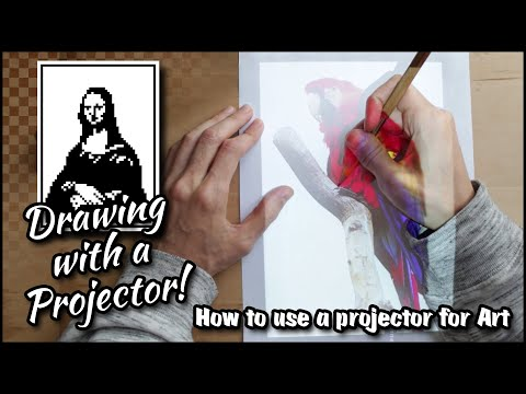 Drawing with a Projector! 🦜 How to use a projector for Art ■ Tracing Masterpieces