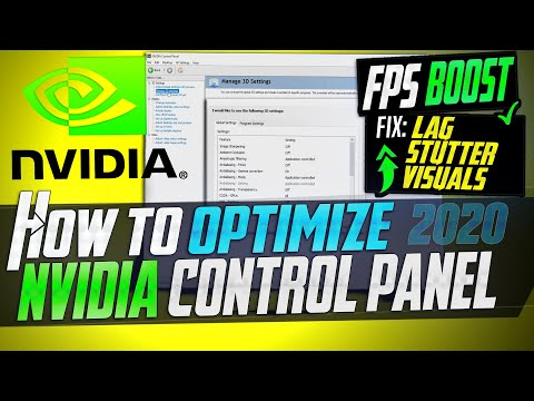 🔧 How to Optimize Nvidia Control Panel For GAMING & Performance The Ultimate GUIDE 2020 Update