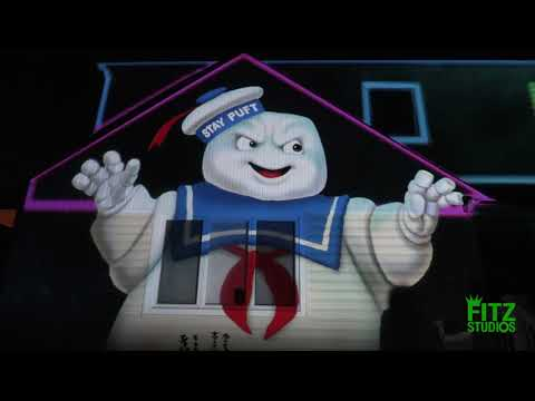 Ghostbusters Halloween Projection Show 2021