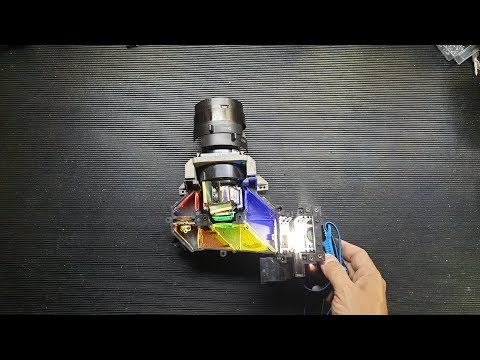 5 Minute explanation - How does an LCD projector work? #shorts